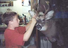 Christopher Mallien and whitetail mount